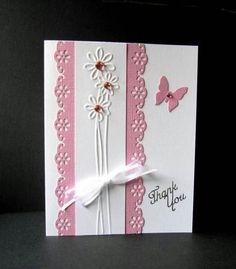 Metal Cutting Dies Embossing Stencils DIY Scrapbooking For Photo Album Decor 852523457362 Pretty Cards, Cute Cards, Diy Cards, Your Cards, Cards To Make, Making Greeting Cards, Greeting Cards Handmade, Handmade Thank You Cards, Butterfly Cards