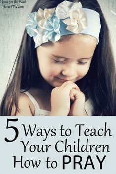 Over the past few years, we've worked with our children (now 9, 6, 3 and a 17 month old who folds her hands and giggles) on strengthening their prayer life using several creative methods. Read my five best tips for teaching kids how to pray that you can use right now!