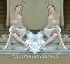 Abiti sposa corti ALTAMODAMILANO.IT  le nuove collezioni spose 2014