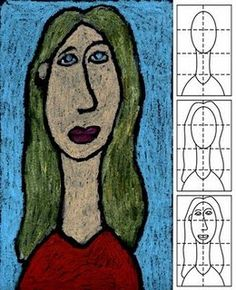 Modigliani Style Portrait Art Projects for Kids: Modigliana Portrait, easy to do. Could be used done with self-portraits and done at the beginning of school with bio poems. Classroom Art Projects, School Art Projects, Art School, Amedeo Modigliani, 6th Grade Art, Grade 2, Artist Project, Ecole Art, Art Lessons Elementary
