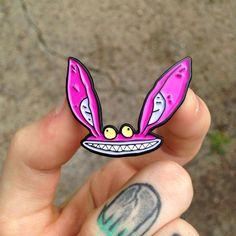 ICKIS Ah Real Monsters Enamel Pin / Lapel Pin by WIZARDOFBARGE on Etsy https://www.etsy.com/uk/listing/278345412/ickis-ah-real-monsters-enamel-pin-lapel