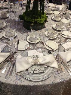 White Shantung - Reversed Table Linen3
