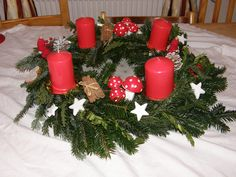 Advent wreath. We don't have a Christmas tree before Christmas Eve.