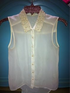 #DIY Pearl Studded Collar  AllThatsFabulous.Wordpress.Com