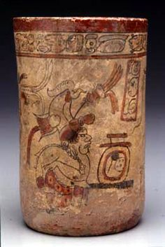 Cylinder Vase with Palace Scene 650-850 CE Culture: MayaPlace object was created: Guatemala, Central America