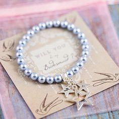 vintage basket charm bracelet faux pearls basket charm bracelet Em-J