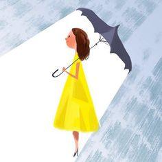 Mike Yamada: Rainy day & #yellow dress #7DaysOfColor