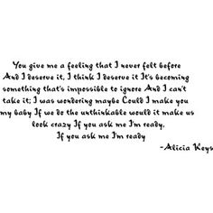Alicia Keys Lyric Quotes | Alicia Keys Unthinkable Lyrics [Quote] By Angelica - Polyvore