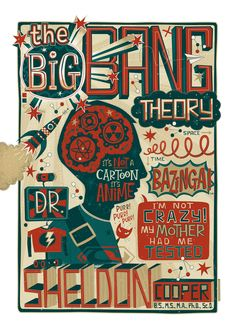 Dr Sheldon Cooper by Steve Simpson, via Behance
