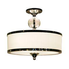 $236 Z-Lite 3 Light Cosmopolitan SemiFlush Semi Flush Ceiling Light - Lighting Universe