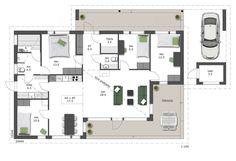 Toimivassa mallissa perheen yhteiset tilat on suunniteltu talon keskelle ja arjen toiminnan kannalta olennaiset tilat ovat käytännöllisesti ...