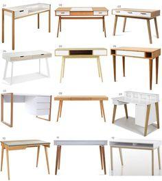 New bedroom desk design ideas Mesa Home Office, Home Office Desks, Home Office Furniture, Furniture Design, Office Spaces, Space Furniture, Furniture Layout, Room Interior, Interior Design Living Room