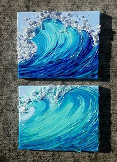 Wave painting Original art from oahu Jennawelleinart. Wave painting Original art from oahu Jenna Cute Canvas Paintings, Mini Canvas Art, Wave Paintings, Acrylic Art Paintings, Painting Canvas, Ocean Canvas, Ocean Art, Art Original, Original Paintings