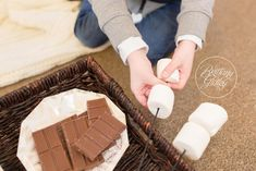 S'mores Themed Photo Shoot | Baby It's Cold Outside | Winter Photo Shoot Ideas