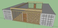 12 Steps How To Build a Cozy Solar Powered Shipping Container Cabin with Living Roof - Off Grid World Shipping Container Buildings, Shipping Container Home Designs, Cargo Container Homes, Building A Container Home, Shipping Container House Plans, Storage Container Homes, Shipping Containers, Container Shop, Container House Design