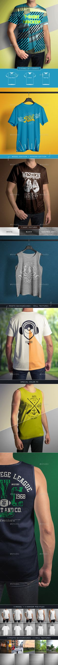 T-Shirt Mock-Up Male Model / Classic Edition - T-shirts Apparel