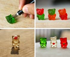 gummi bear surgery - I can't decide if I am showing you this because you are a medical professional or because it's adorable.