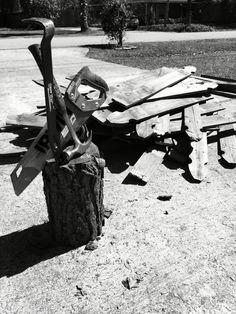 Wood fence tear down