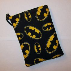Padded Pipe Pouch Batman Pipe Bag Glass Pipe Case by PouchAPalooza.com