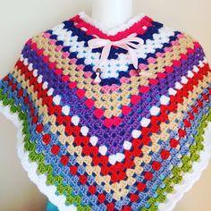 A Cor da Lã: Poncho em crochet para crianças