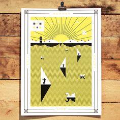 Summer Poster by Martin Azambuja Holstee
