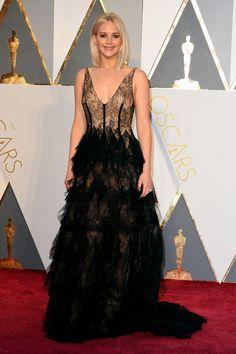Jennifer Lawrence de Dior en los Oscar 2016.