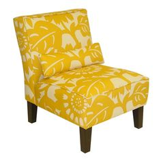 Found it at Wayfair - Slipper Chair in Sungold.livingroom or bedroom