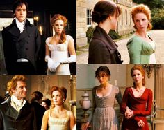 """Austen wrote the first draft of the story in 1797, and it wasn't published until 1811. I felt that the earlier period looked more interesting, it was a more interesting period socially and therefore those social changes were reflected in everything including costumes. The Empire Lines were just coming in, so high society such as Caroline Bingley, would be wearing an Empire Line dress. Whereas the Bennet girls might not be, so the waistlines could be a little lower.""        (Joe Wright…"