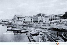 Fotos de Tampico, Tamaulipas, México: Embarcadero y Mercado sobre la Rivera del Rio Tamesi (ya desecado)