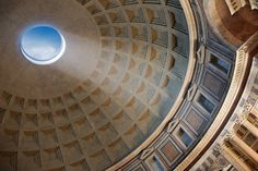 "The ""Oculus"" in the dome of the Pantheon in Rome"