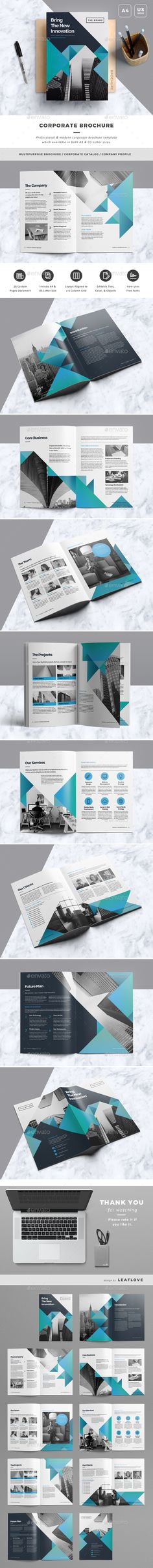 Brochure — InDesign INDD #company #template • Download ➝ https://graphicriver.net/item/brochure/19684800?ref=pxcr