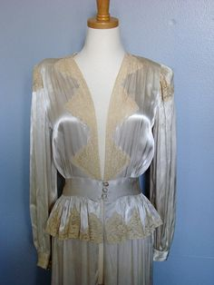 Vintage 1930s Maxan Silk and Lace Bridal by EvesVintageWedding, $165.00