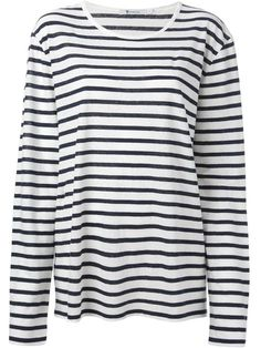 Shop T By Alexander Wang striped T-shirt in Nugnes 1920 from the world's best independent boutiques at farfetch.com. Over 1000 designers from 300 boutiques in one website.