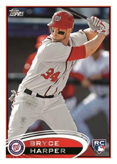 See a mock-up of the first Bryce Harper rookie card unveiled by Topps during his MLB debut. The card is expected to be in 2012 Topps Series 2 Baseball. Baseball Fight, Sports Baseball, Baseball Players, Baseball Cards, Mlb, Washington Nationals Baseball, Bryce Harper, The Sporting Life, Athlete
