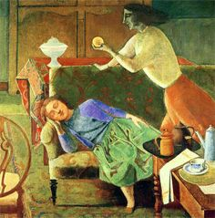 amare-habeo:  Balthus (French, 1908-2001) - The Golden Fruit , 1956 (by *Huismus, alongtimealone:)