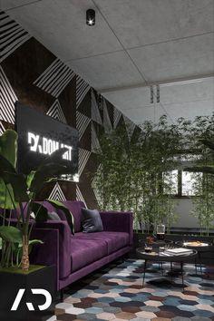 📨  biuro@amadeusz.design 📞 +48 609 999 467   #poczekalnia #abstrakcyjna #podłoga #hexagon #rośliny #zieleń #fioletowa #kanapa #waitingroom #office #abstract #floor #plants #amadeusz #design #amadeusz #design #amadeuszdesign #domart #architektwnetrz #projektowaniewnetrz  #architekturawnetrz #dobrzemieszkaj #interior #interiordesign #aranzacjawnetrz #domoweinspiracje #architecture #wystrój #wnętrz #homedecor #home #decor #beauty Diy Furniture, Couch, Studio, Home Decor, Design, Decoration Home, Room Decor, Sofas, Studios