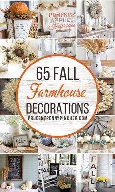 Add some cozy, country style to your fall decorations with these DIY farmhouse fall decor ideas. From farmhouse fall wreaths to farmhouse fall front porch decorating ideas, there are plenty of DIY farmhouse decor ideas for fall to choose from. Fall Home Decor, Autumn Home, Fall Crafts, Decor Crafts, Thanksgiving Crafts, Pumpkin Crafts, Diy Crafts, Farmhouse Fall Wreath, Porch Decorating