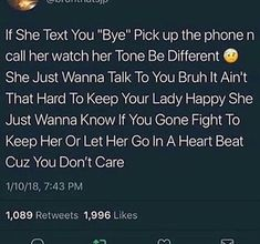 if only one man understood this bro and actually did it ! Bae Quotes, Real Talk Quotes, Tweet Quotes, Twitter Quotes, Mood Quotes, People Quotes, Relationship Quotes, Relationships, Real Facts