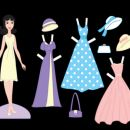 Paper doll dress-up set