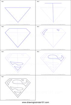 Superman is a male fictional character. This character is very famous among kids & adult. Superman is a male fictional character. This character is very famous among kids & adult. Superman Logo, Superman Symbol, Superman Art, Superman Drawing, Drawing Superheroes, How To Draw Superman, Drawing Sheet, Cad Drawing, Inkscape Tutorials