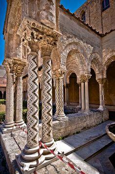 Monreale, Sicily, Italy - Convento dei Benedettini, il Chiostro