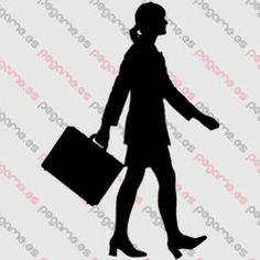 Pegame.es Online Decals Shop  #cowgirl #woman #walking #briefcase #executive #vinyl #sticker #pegatina #vinilo #stencil #decal