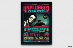 """Check out my @Behance project: """"Concert Unplugged Flyer Template"""" https://www.behance.net/gallery/40755061/Concert-Unplugged-Flyer-Template"""
