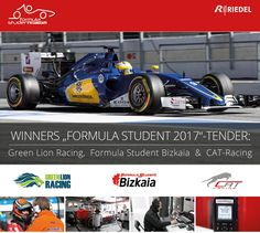 """The winners of our """"Formula Student"""" competition have been determined, and because of the amazing concepts, we have decided to not only support 2 but 3 teams this season! Congratulations to """"GreenLion Racing"""" (Wuppertal), """"Formula Student Bizkaia"""" (Bilbao) & """"CAT-Racing"""" (Coburg).  Each team will be supported with communication technology worth 7,500 €. #FSG2017 #RIEDEL"""