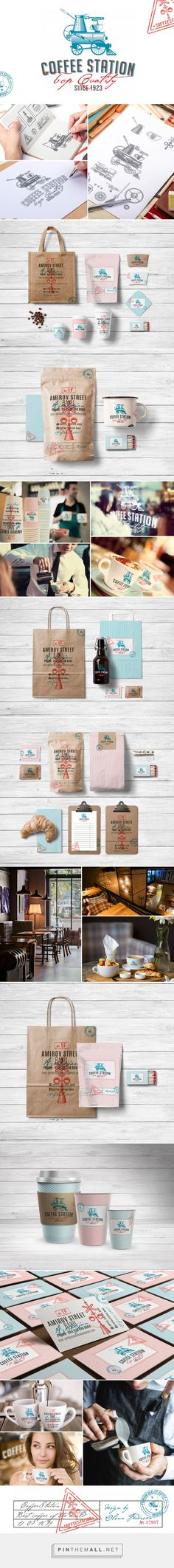 Branding for the coffee shop Coffee Station on Behance - created via http://pinthemall.net