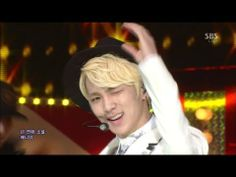 Key, 샤이니 (SHINee) [Why So serious] @Sarah Segal Inkigayo  #platinum #blonde #SHINee