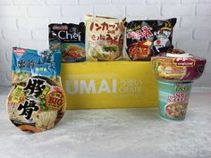 Umai Crate is a monthly subscription box that brings you exclusive Japanese noodles every month. See our December 2016 review!     Umai Crate December 2016 Subscription Box Review + Coupon →  https://hellosubscription.com/2017/01/umai-crate-december-2016-subscription-box-review-coupon/ #UmaiCrate  #subscriptionbox