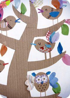 Créations récup', Emily Bone et Leonie Pratt, Éditions Usborne Preschool Themes, Preschool Art, Easter Arts And Crafts, Diy And Crafts, Spring Projects, Projects To Try, Diy For Kids, Crafts For Kids, Bird Theme