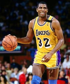Magic Johnson. 5 NBA Championships. 3 NBA Finals MVP. 3 NBA MVP's. 19.5 ppg, 7.2 rpg, 11.2 apg. Creator of The Magic Johnson Foundation fighting against HIV.