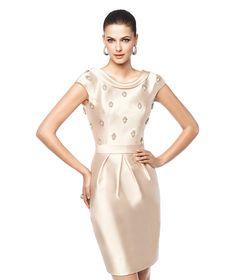 NAIARA - Vestido de festa curto cor clara. Pronovias 2015 | Pronovias